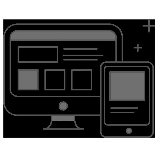 grafika przedstawiająca kształt monitora i smartfona